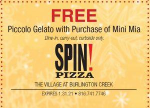 Burlington Creek Spin Pizza