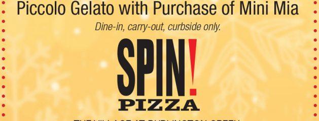 Spin! Pizza – FREE Piccolo Gelato with Purchase of Mini Mia